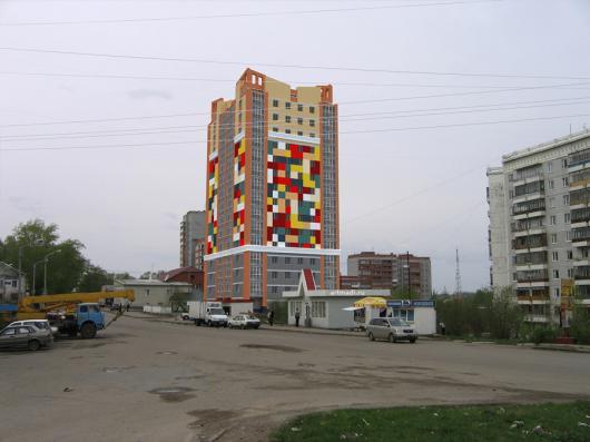 Будущий вид в городской среде Дом на ул.Сибирская, 98, уд.Сибирская, 98, СУ-13, Томск