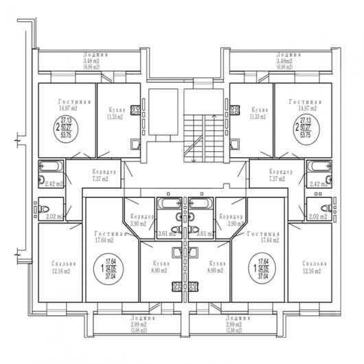 Изумрудный город, дом №1, секция 2