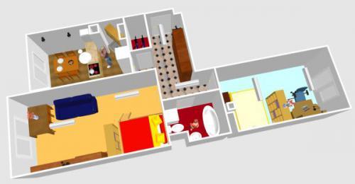 Визуализация двухкомнтаной квартиры