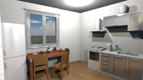 Кухня. Вид из гостиной