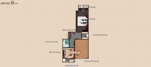 Планировка 2 комнатной квартиры по плану дома + интерьер