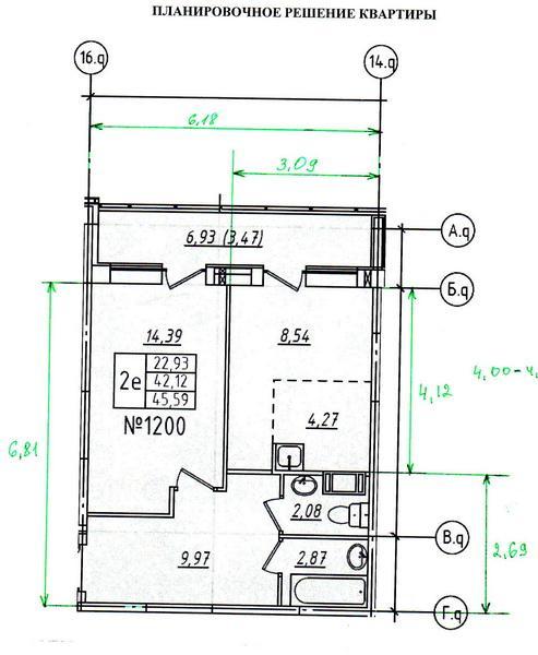 предлагаемая планировка от застройщика