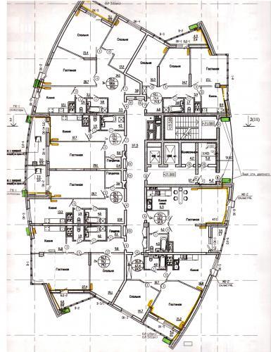 предварительная схема размещения внешних блоков кондиционеров